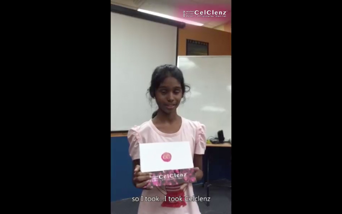 CelClenz Testimonial : Delphina (Singapore) 11 years old